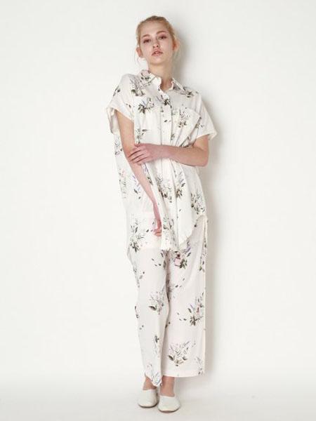 usagi-online国际品牌品牌2020春夏棉麻轻肤睡衣套装