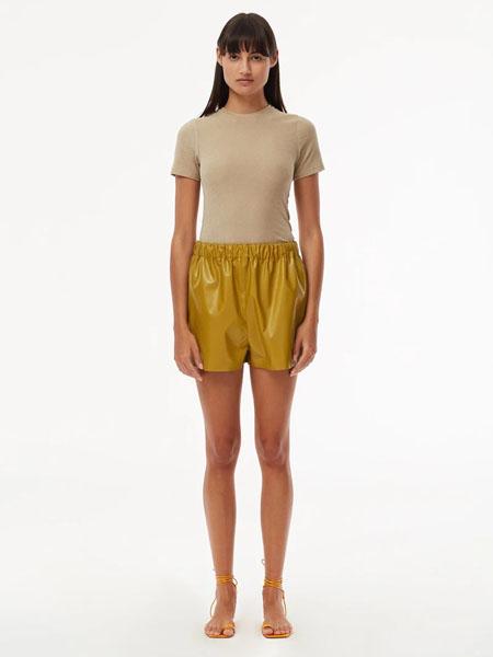 Tibi国际品牌品牌2020春夏修身针织短袖