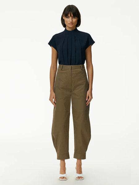 Tibi国际品牌2020春夏纯棉黑色休闲套装