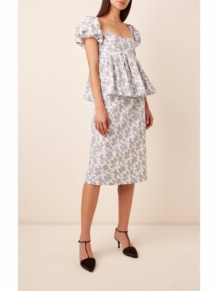 modaoperandi国际品牌2020春夏棉麻碎花衬衫短袖