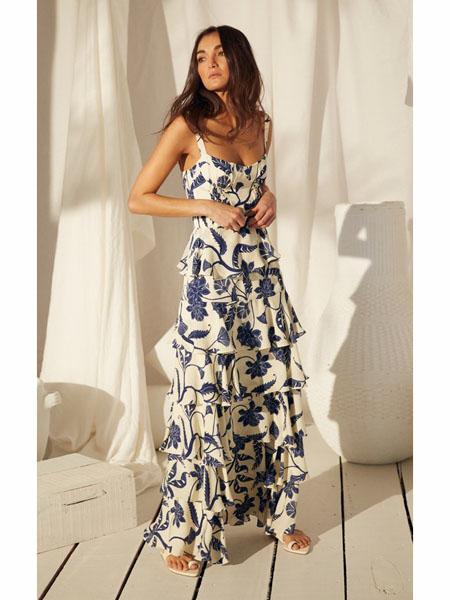 modaoperandi国际品牌2020春夏时尚雪纺吊带裙