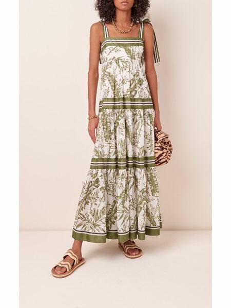 modaoperandi国际品牌品牌2020春夏时尚雪纺吊带裙