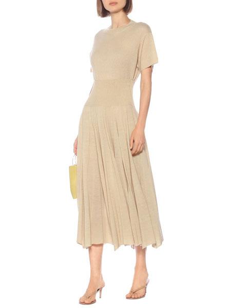 ryan roche国际品牌短袖修身显瘦连衣裙