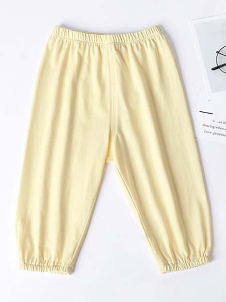 暖康小黑桔 HEY!ORANGE童装品牌2020春夏黄色裤子宝宝