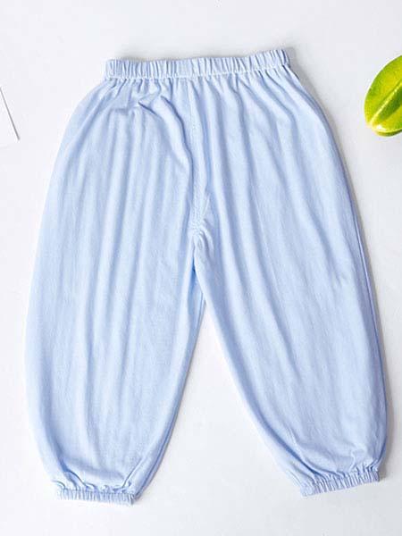 暖康小黑桔 HEY!ORANGE童装品牌2020春夏宝宝蓝色裤子