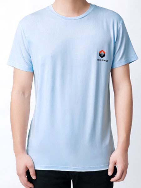 暖康小黑桔 HEY!ORANGE男装品牌2020春夏蓝色T恤