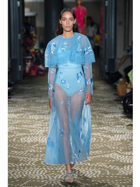 huishan zhang国际品牌2020春夏时尚网纱套装裙