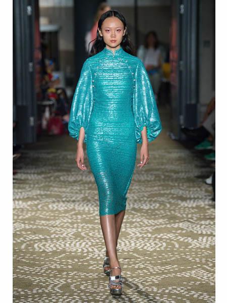 huishan zhang国际品牌品牌2020春夏修身包臀裙连衣裙