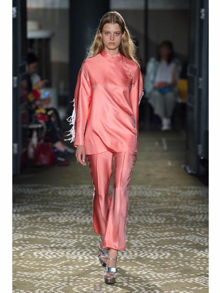 huishan zhang国际品牌品牌2020春夏修身长款连衣裙