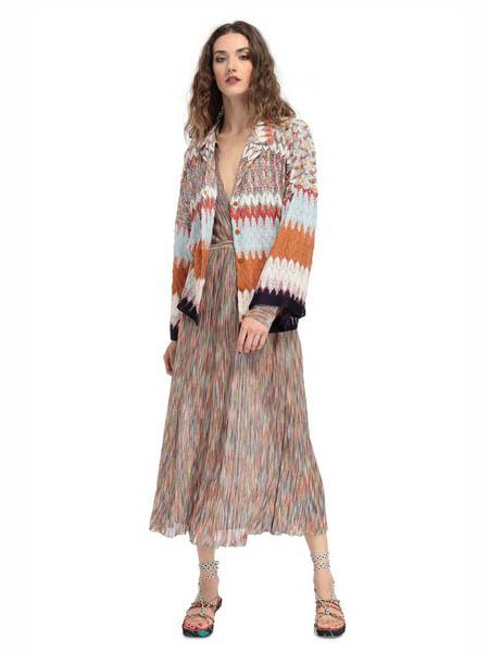 M Missoni国际品牌品牌2020春夏彩色雪纺外套