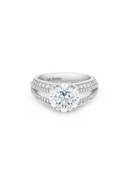 De Beers Diamond Jewellers钻石彩宝品牌唤醒莲花戒指