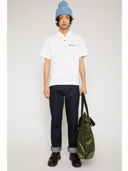 Acne Studios国际品牌2020春夏polo衫纯棉短袖