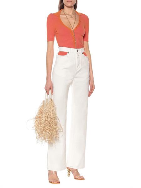 Jacquemus国际品牌品牌2020春夏修身v领针织短袖