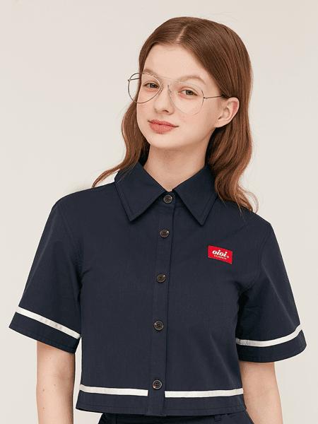 5252 by OOi国际品牌复古棉麻衬衫短袖