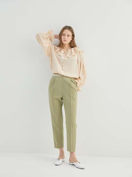 Sweet One Eighty国际品牌品牌2020春夏青色长裤修身