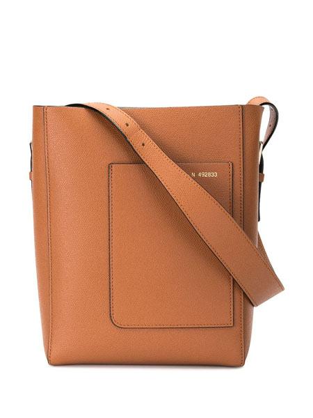 Valextra国际品牌品牌复古时尚软包水桶包斜挎包