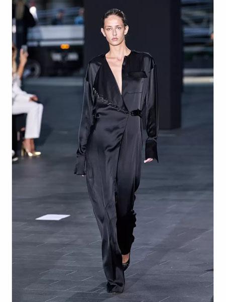 David Koma国际品牌品牌2020春夏丝绸长款衬衫