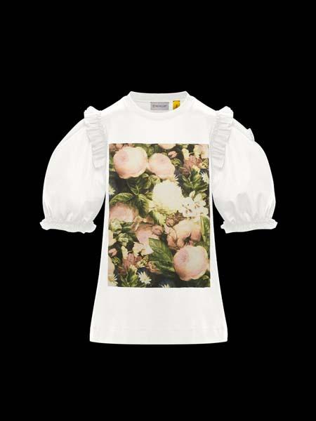 Moncler Gamme Rouge国际品牌2020春夏印花泡泡袖衬衫