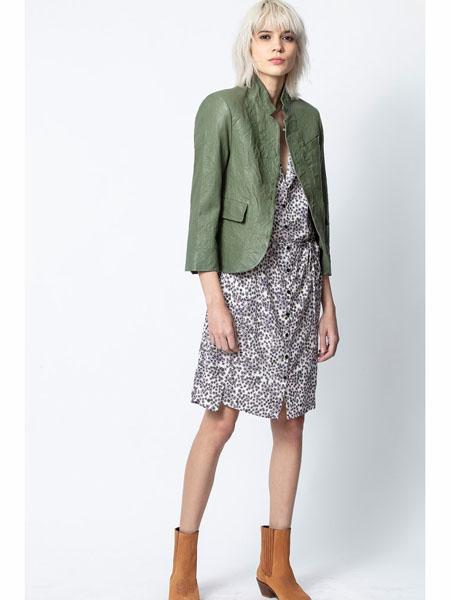 Zadig & Voltaire国际品牌休闲棉麻夹克衫外套