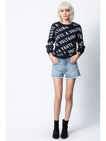 Zadig & Voltaire国际品牌印花圆领卫衣
