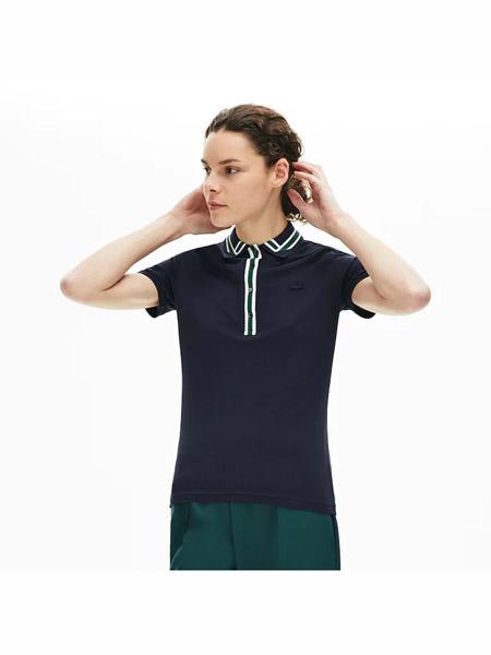 LACOSTE L!VE国际品牌纯棉透气短袖T恤