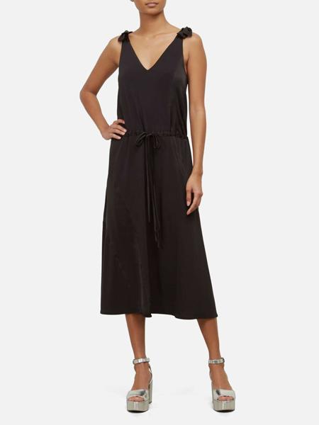 Kenneth Cole国际品牌2020春夏丝绸宽松吊带裙