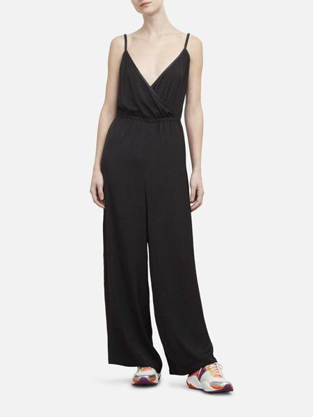 Kenneth Cole国际品牌2020春夏丝绸无袖连体裤