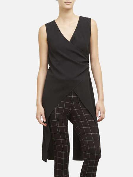 Kenneth Cole国际品牌品牌2020春夏丝绸无袖连体裤