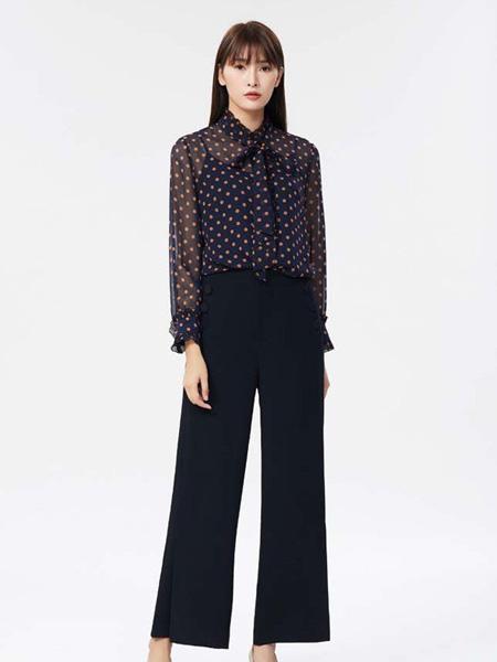 迪图女装品牌2020春夏复古显瘦套装裤
