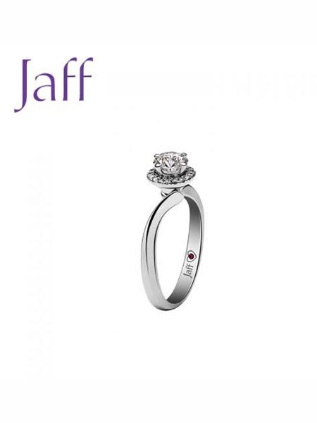 jaff国际品牌品牌铂钻石戒指 纯爱之花系列 纯爱之花