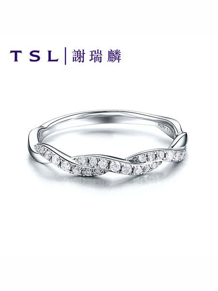 TSL谢瑞麟国际品牌玫瑰金钻戒叠戴求婚钻石戒指女时尚个性