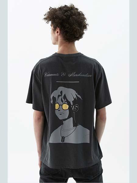 HEICH BLADE女装品牌2020春夏黑色卡通人像T恤
