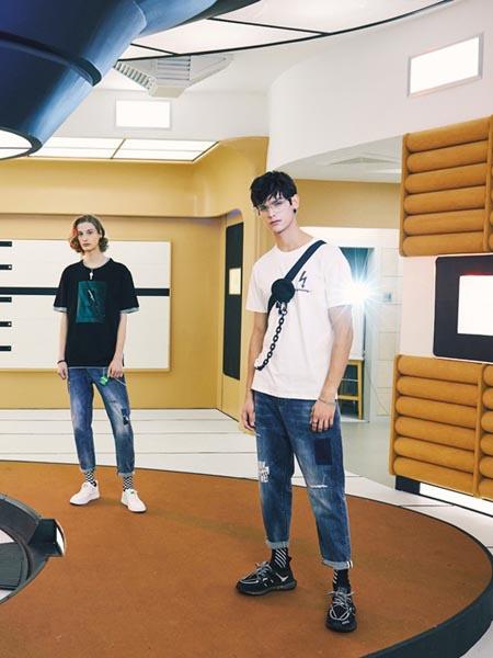 MOOU摩欧男装品牌2020春夏纯棉印花休闲短袖
