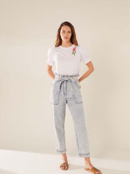 Manoush女装品牌2020春夏白色T恤