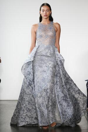 Pamella Roland国际品牌品牌2020春夏时尚修身v领鱼尾裙