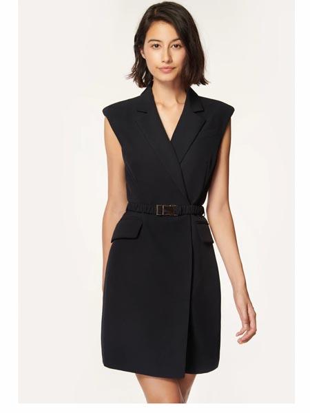 Milly国际品牌2020春夏知性职场显瘦西装裙