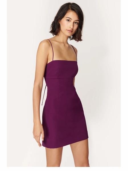 Milly国际品牌2020春夏时尚复古吊带裙