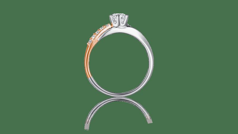 I-PRIMO国际品牌品牌18k玫瑰金钻石戒指女时尚求婚结婚镶钻戒指指环