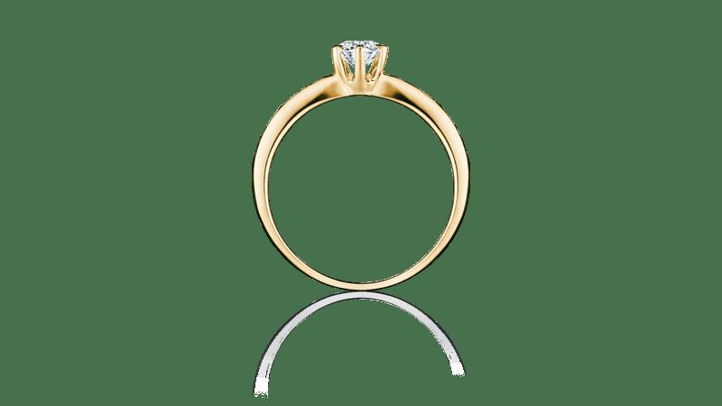 I-PRIMO国际品牌品牌玫瑰金18K金钻石戒指女款时尚气质简约群镶钻戒指