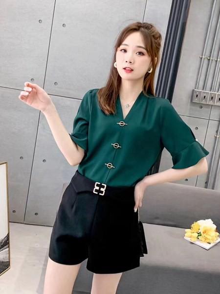 古米娜女装品牌2020春夏休闲时尚套装裤