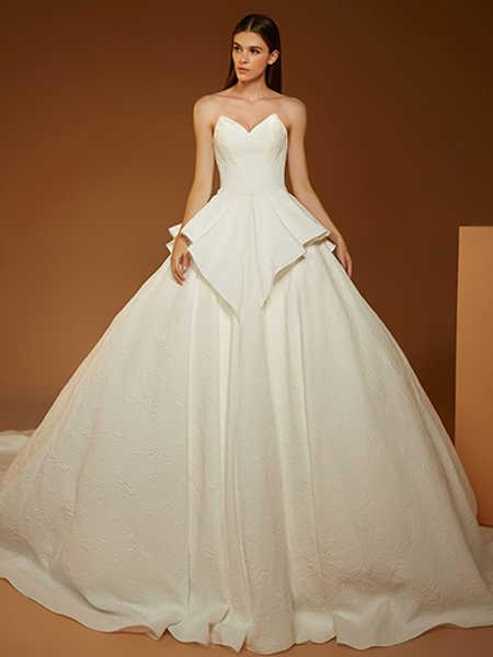 AOLISHA国际品牌品牌2020春夏星空婚纱拖尾新娘欧式礼服森系婚纱新款星空拖尾礼服