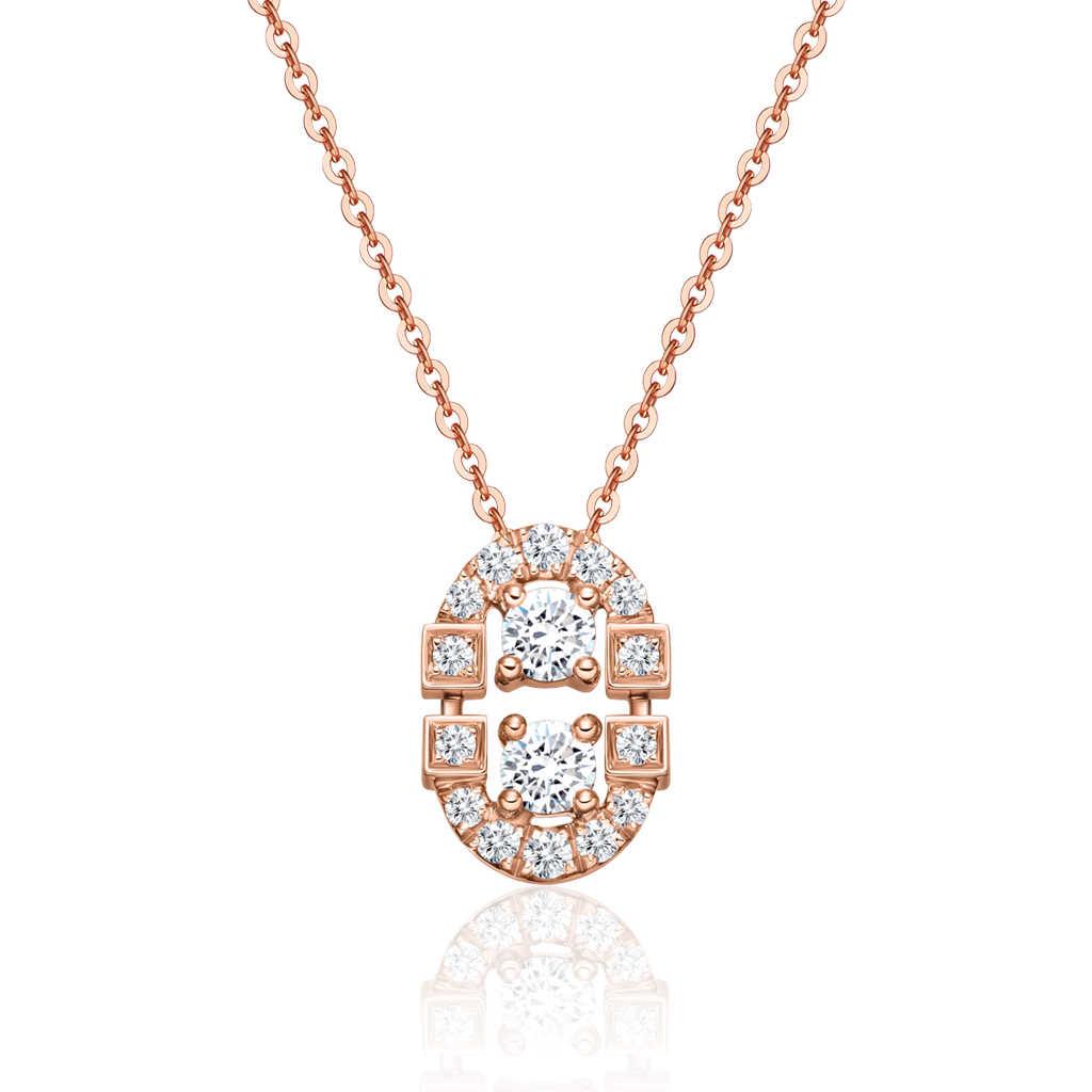 金伯利钻石国际品牌品牌玫瑰金色经典优雅锁骨项链时尚气质女