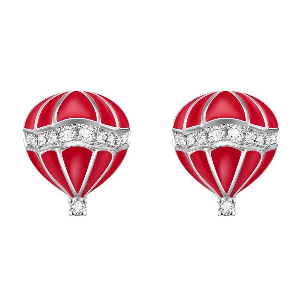 金伯利钻石国际品牌品牌银耳环女气质百搭耳钉耳坠