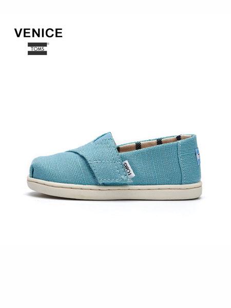Toms国际品牌小童鞋魔术贴休闲鞋可爱蕾丝公主鞋女童懒人鞋
