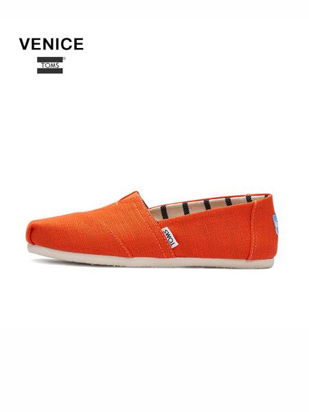 Toms国际品牌男鞋新款休闲鞋懒人鞋绳边踩跟百搭一脚蹬鞋