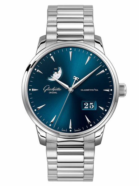 Glashutte Original国际品牌品牌钢带机械表商务男士手表情侣表白色
