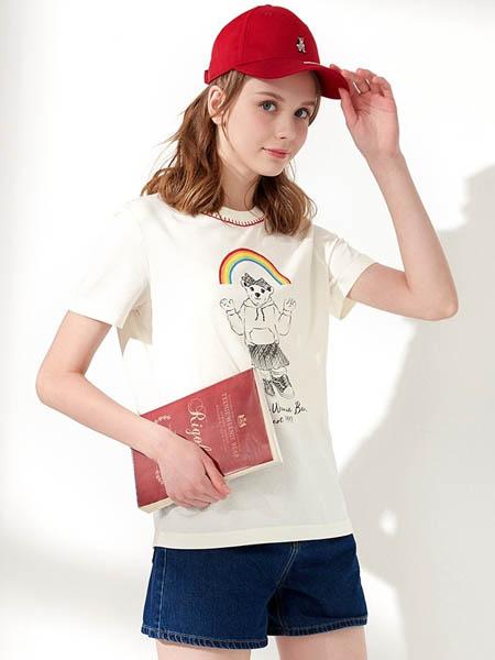 维尼熊国际品牌品牌2020春夏纯棉圆领印花短袖