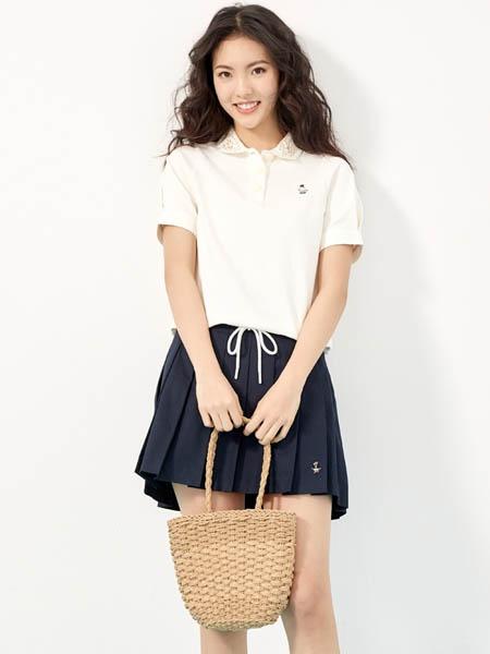 维尼熊国际品牌品牌2020春夏卡通polo衫短袖亲肤T恤翻领上衣女装