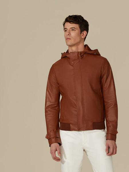 Trussardi 1911国际品牌品牌2020春夏休闲皮衣夹克衫