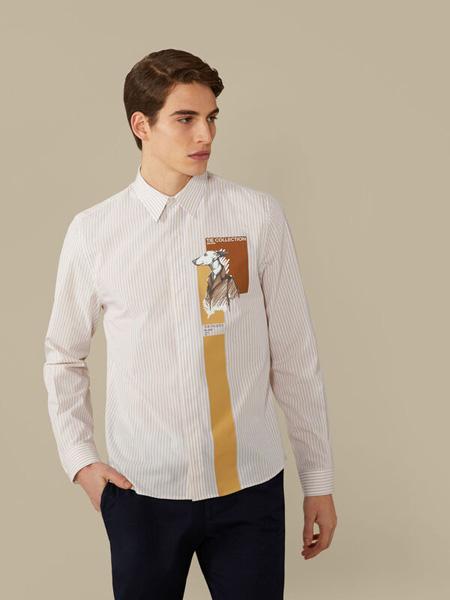 Trussardi 1911国际品牌品牌2020春夏纯棉衬衫长袖